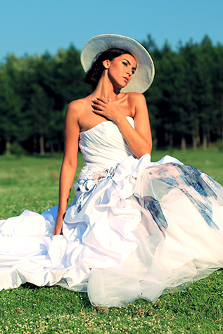 Bridal dress Meconophsys