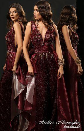 Вечерна рокля VELVET TOUCH Лизел - абитуриентски рокли цени асеновград, бални рокли в червено